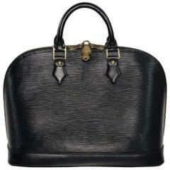 Louis Vuitton Epi Alma in Black Satchel Top Handle Handbag