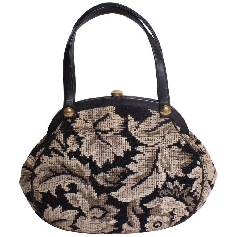 cc198d14fed9 Large Vintage Tapestry Bag For Sale at 1stdibs