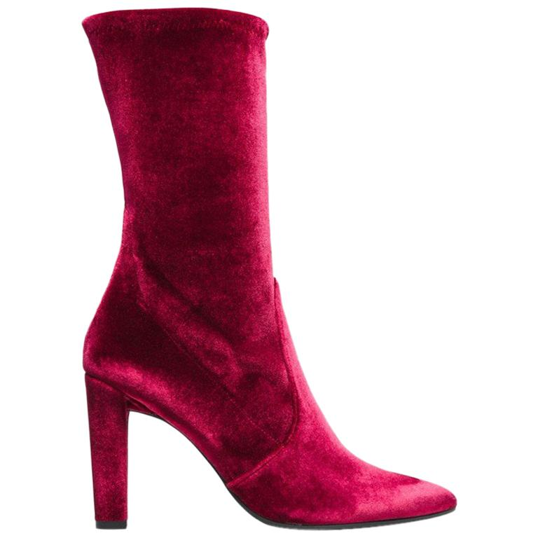 337dee59ce9 Stuart Weitzman Oxblood Suede Over The Knee Boots For Sale at 1stdibs