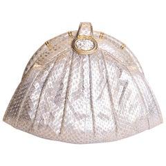 Vintage Silver Snakeskin Bag