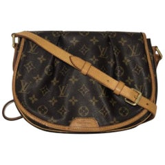 Louis Vuitton Monogram Menilmontant PM Crossbody Shoulder Handbag