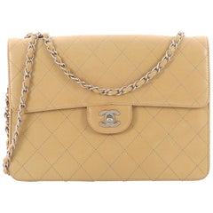 Chanel Vintage CC Chain Flap Bag Quilted Lambskin Large