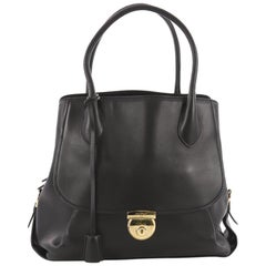 Salvatore Ferragamo Fiamma Tote Leather North South