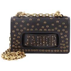Christian Dior J'adior Chain Flap Bag Embellished Leather Mini