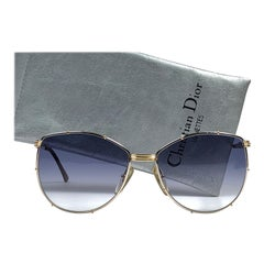 New Vintage Christian Dior 2472 Silver & Gold Accents 1980's Sunglasses