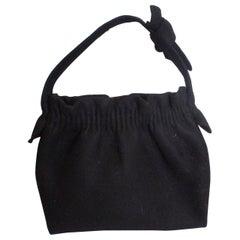 Vintage Black Felt Bag