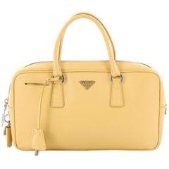 Prada Bauletto Handbag Saffiano Leather Small