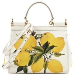 Dolce & Gabbana Miss Sicily Handbag Printed Leather Small