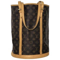 Louis Vuitton Monogram Bucket GM Shoulder Tote Handbag