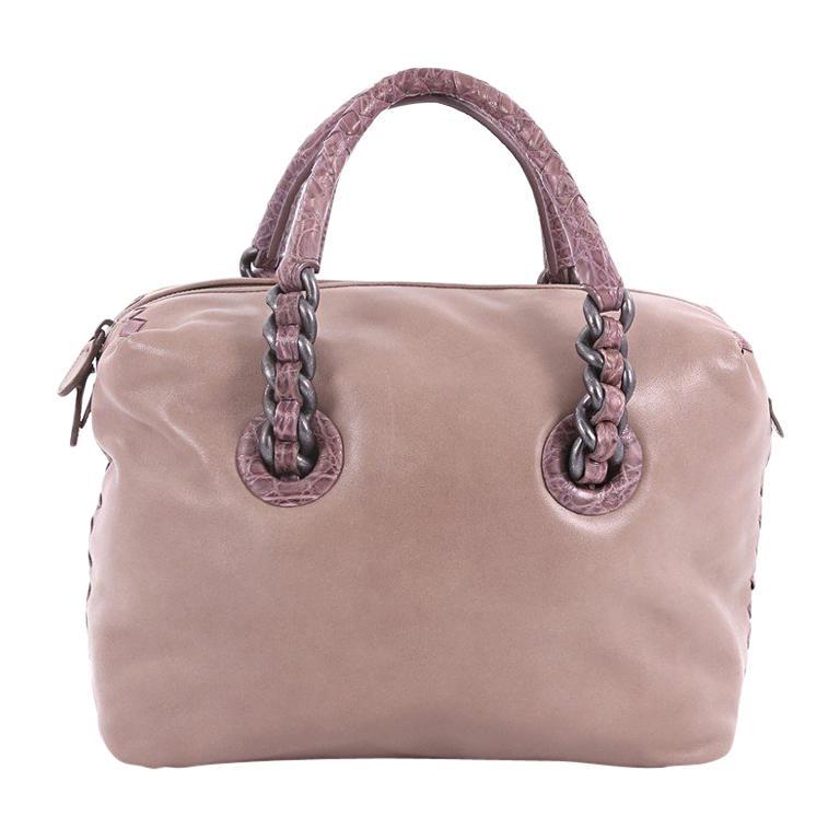 Bottega Veneta Chain Strap Shoulder Bag Leather with Crocodile Medium For  Sale 256b94e4e6c36