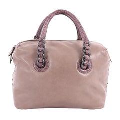 Bottega Veneta Chain Strap Shoulder Bag Leather with Crocodile Medium