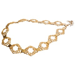 Vintage Chain Belt with Circular links