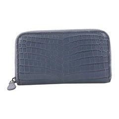 Bottega Veneta Zip Around Wallet Crocodile