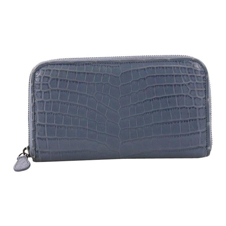 c26e340b48ca Bottega Veneta Zip Around Wallet Crocodile For Sale at 1stdibs