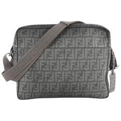 Fendi Front Pocket Messenger Bag Zucca Coated Canvas Large