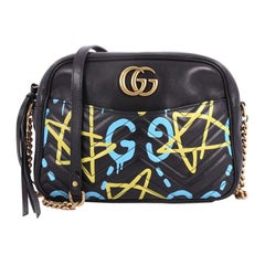 Gucci GG Marmont Shoulder Bag GucciGhost Matelasse Leather Medium