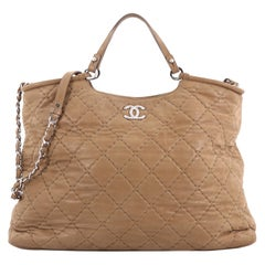Chanel CC Sea Hit Tote Quilted Iridescent Calfskin Large