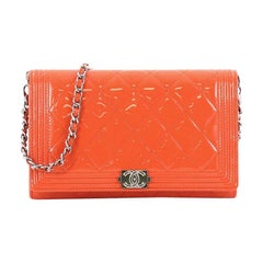 Chanel Boy Wallet on Chain NM Quilted Patent Small