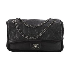 Chanel Chic Knit Flap Bag Sheepskin and Wool Small