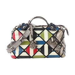 Fendi By The Way Satchel Patchwork Python Small