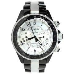 Chanel Black/Silvertone Ceramic/Aluminum 41mm Superleggera J12 Automatic Watch