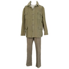 Men's British Khaki Norfolk Hunting Ensemble, 1960s
