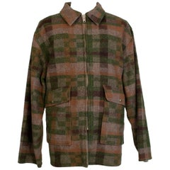 Men's LL Bean Reversible Plaid Field Jacket, 1980s