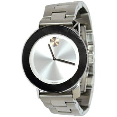 Movado Stainless Steel Rose Gold Bold Series Watch