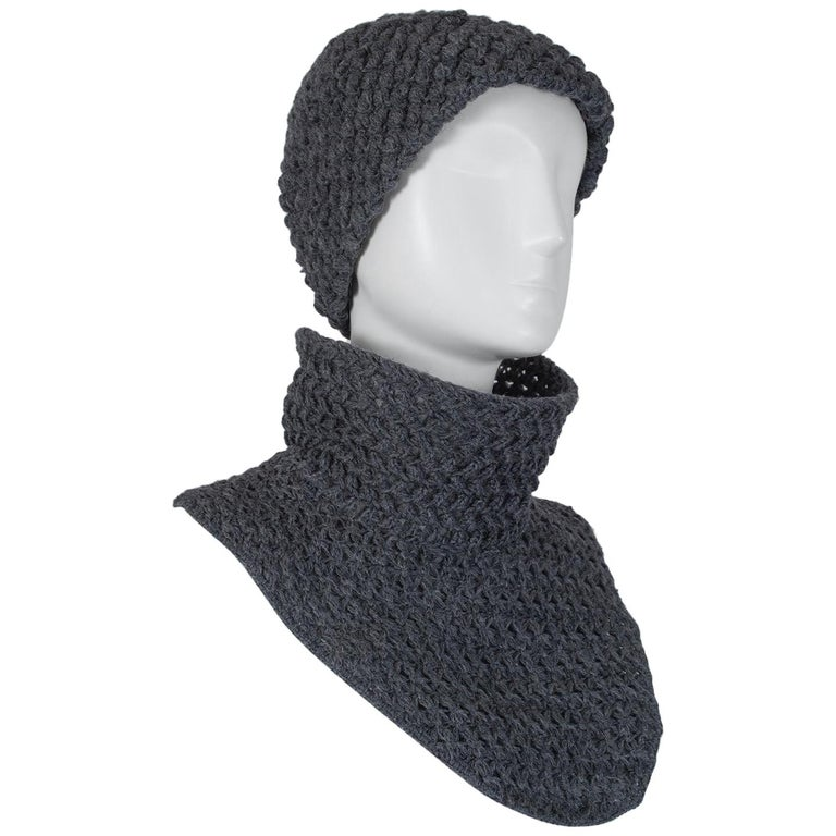 BH Wragge Knit Cap and Funnel Collar Dickey, 1965