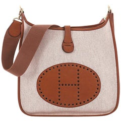 Hermes Evelyne Crossbody Gen I Toile and Leather GM