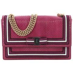 Salvatore Ferragamo Ginny Crossbody Bag Snakeskin Medium