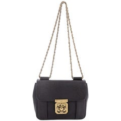 Chloe Elsie Chain Shoulder Bag Leather Small
