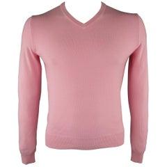 RALPH LAUREN Size M Light Pink Knitted Cashmere Sweater