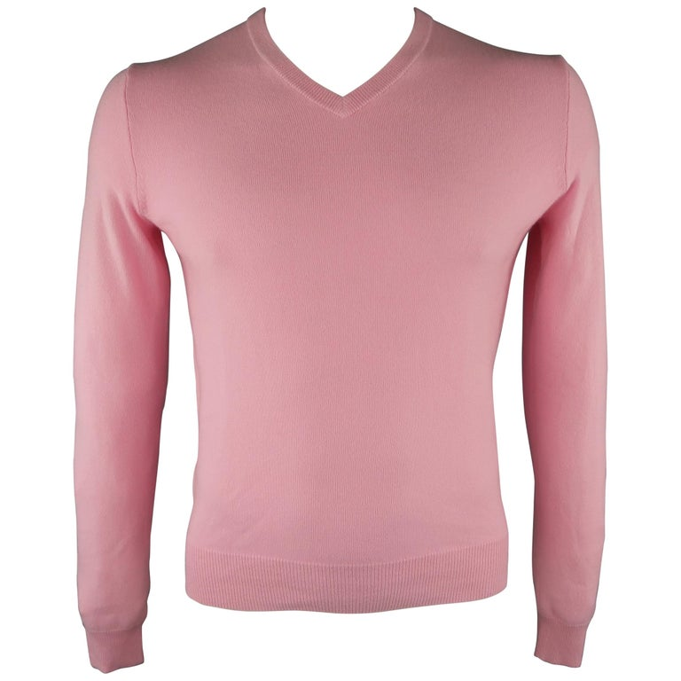 1c835ed42 RALPH LAUREN Size M Light Pink Knitted Cashmere Sweater For Sale at ...