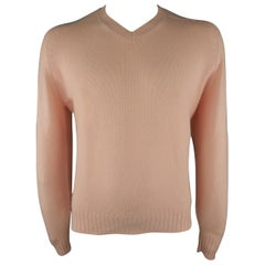 BRUNELLO CUCINELLI Size 40 Light Pink Knitted Cashmere Sweater
