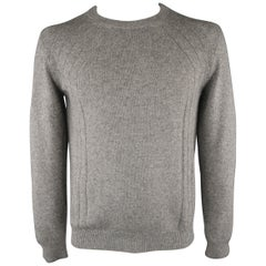 DIOR HOMME Size L Grey Heather Camel Hair Heather Sweater