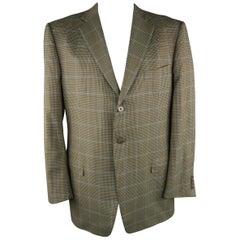 ERMENEGILDO ZEGNA 48 Long Olive Solid Wool Sport Coat