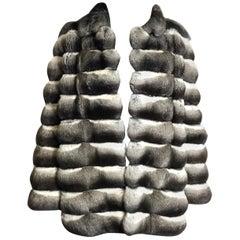 Chinchilla Ladies fur jacket by SLUPINSKI. Black/white