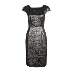 Dolce and Gabbana Metallic Cap Sleeve Sheath Dress M