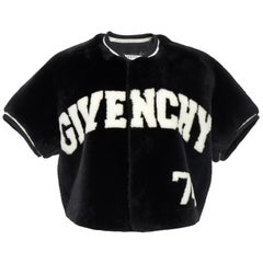 Givenchy Cropped Fur Baseball Jacket