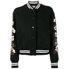 Off-White C/O Virgil Abloh Cherry Blossom-Embroidered Wool-Blend Bomber Jacket