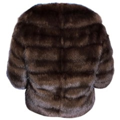 Russian Sable fur ladies jacket/bolero by eurofur. Evening jacket. (8)