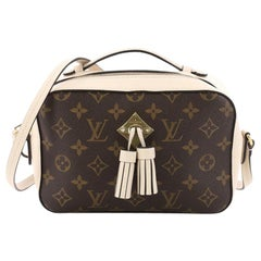 Louis Vuitton Saintonge Handbag Monogram Canvas with Leather