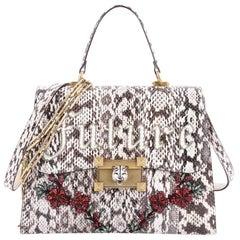 Gucci Osiride Top Handle Bag Embellished Snakeskin Medium