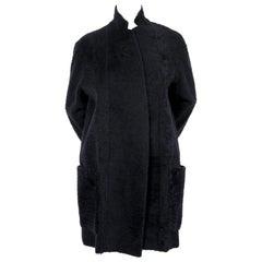 CELINE by PHOEBE PHILO navy blue shearling coat