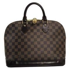 Louis Vuitton Damier Ebene Alma PM Top Handle Tote Handbag