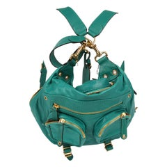 Gucci Darwin Convertible Medium Backpack Leather Bag - green