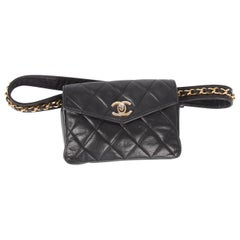 Chanel Belt Bag Leather - black/gold