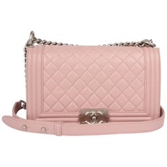 Chanel Le Boy Bag Medium - dusty pale pink