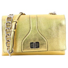 Prada Turnlock Flap Chain Bag Leather Small